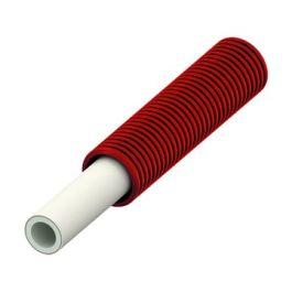 TECElogo Alupex Buis in schutmantel 16mm rood R=75