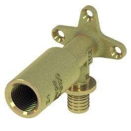 """TECEflex Messing Muurplaat lang 16mm x 1/2"""" pers/ binnendraad L=82mm"""
