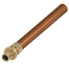 TECEflex Messing Overgangskoppeling 16mm x Cu15 pers/ koperbuis