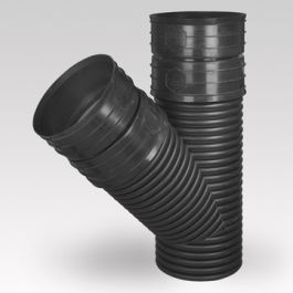 Ultra Kyma PP T-stuk SN8 DN300 2x mof/ spie 45° zwart