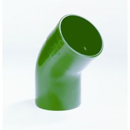 Vacurain PVC Slagvaste Bocht 40mm lijmmof/spie groen 45°