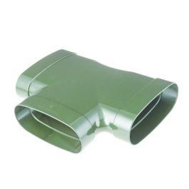 DYKA AIR T-stuk ovaal 195mm 3x lijmmof 90° groen