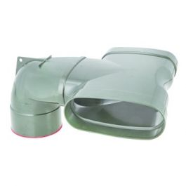 DYKA AIR Gcomb. T-stuk ovaal-rond ventiel 195x80x125mm 3x mof groen