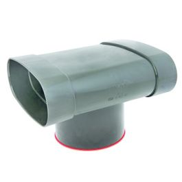 DYKA AIR Uitloop ovaal 195-125mm 3x lijmmof groen H=50mm