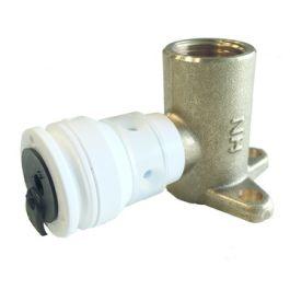 """Henco MS Muurplaat 16mm x 1/2"""" push-fit/binnendraad H=43mm"""