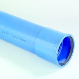 DykaSono PVC Buis 110x5,3mm mof/ spie blauw L=3m