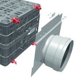 Duborain Rainbox 3S Aansluitplaat 125mm