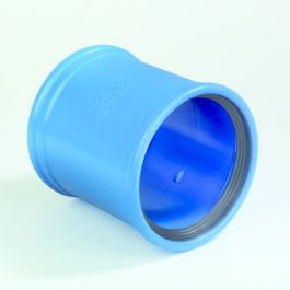 DykaSono PVC Steekmof 50mm 2x mof blauw