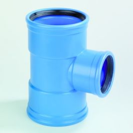 DykaSono PVC Verloop T-stuk 110x50mm 3x mof 90° blauw