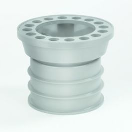 PVC Balkondoorvoerset met ABS rooster 80mm