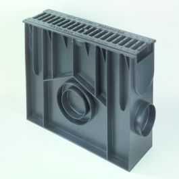 PE/PP Zandvanger Standard inclusief gietijzeren rooster 419mm L=0,5m
