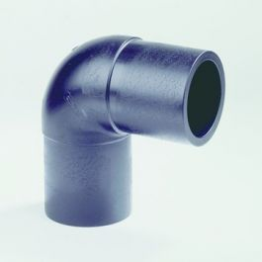 PE100 Knie SDR11 32mm 2x spie 90° zwart