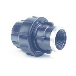 "Plassim Overgangskoppeling PN16 16mm x 1/2"" knel/ binnendraad zwart"