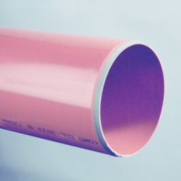 PVC-U3 Buis 125x3,7mm klasse 34/SN8 KOMO roodbruin L=5m