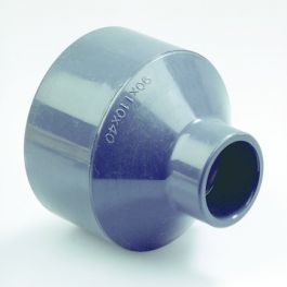 PVC Verloop 20-25x16mm PN16 lijmmof/spie grijs